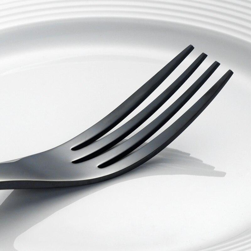 24 ชิ้น/ล็อตสีดำชุดช้อนส้อมสแตนเลสคุณภาพสูงมีดส้อมช้อนโต๊ะชุดอาหารเย็น 24 สำหรับ 6 คนอาหารเย็น-ใน ชุดเครื่องใช้สำหรับอาหารค่ำ จาก บ้านและสวน บน   3