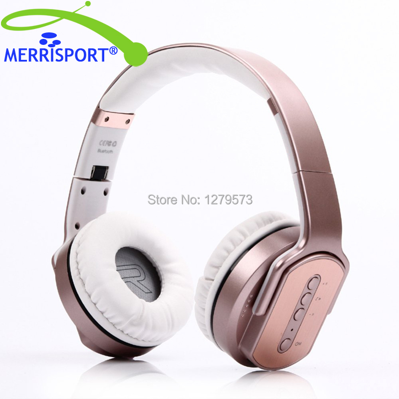 MERRISPORT Wireless Bluetooth Foldable Over Ear Headphones Headsets with Mic For for Cellphones iPad iPhone Laptop Rose Gold 6000lumens bike bicycle light cree xml t6 led flashlight torch mount holder warning rear flash light