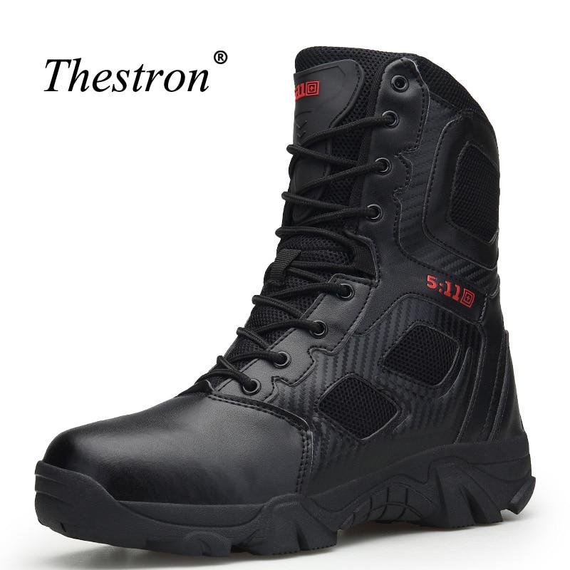 Hommes Bottes de Combat Noir Sable Homme Randonnée Chaussures Plus La Taille 39-47 Hiver Sneakers pour Hommes High Top Anti -slip Montagne Bottes