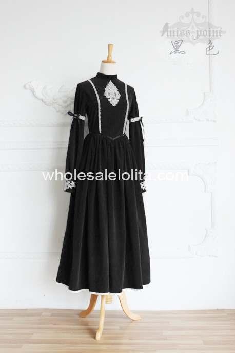 Высококачественное винтажное платье в стиле королевского двора, современное платье в викторианском стиле - Цвет: Черный