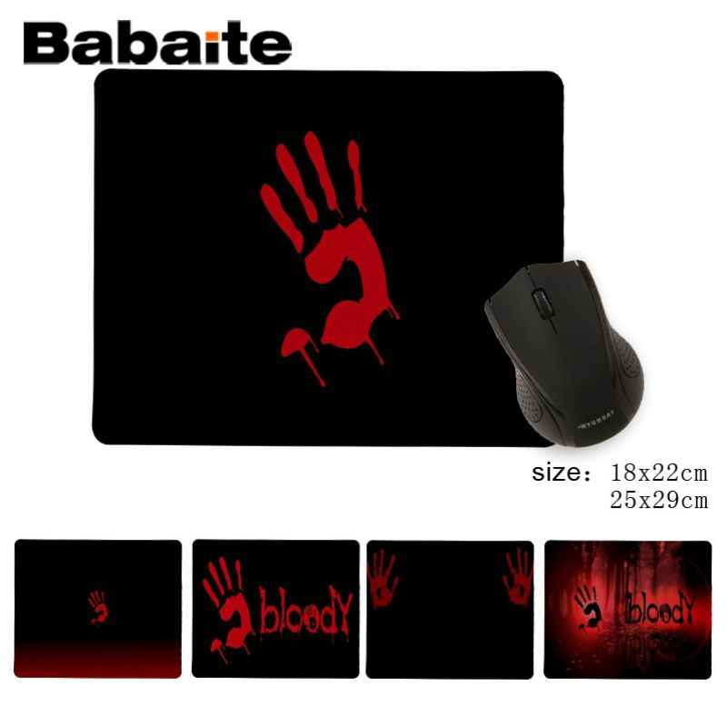 Babaite Top Quality Bloody Customized MousePads Computer Laptop Anime Mouse Mat Soft Rubber Professional Gaming Mouse Pad