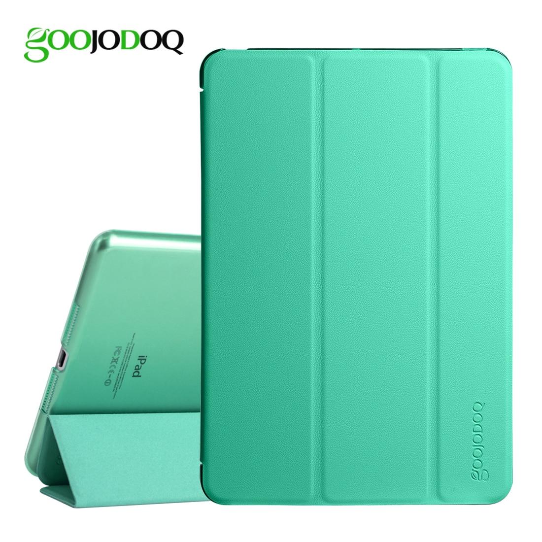 For iPad Pro 9.7 Case, GOOJODOQ PU Leather Smart Cover with Translucent PC Back Case for Apple iPad Pro 9.7 inch Auto Wake/Wake