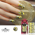 Nail Stickers 3d Flower Nail Art Designs Yellow  Warps Nail Strips Decoration Manicure Decor Nail Accessories Tools New