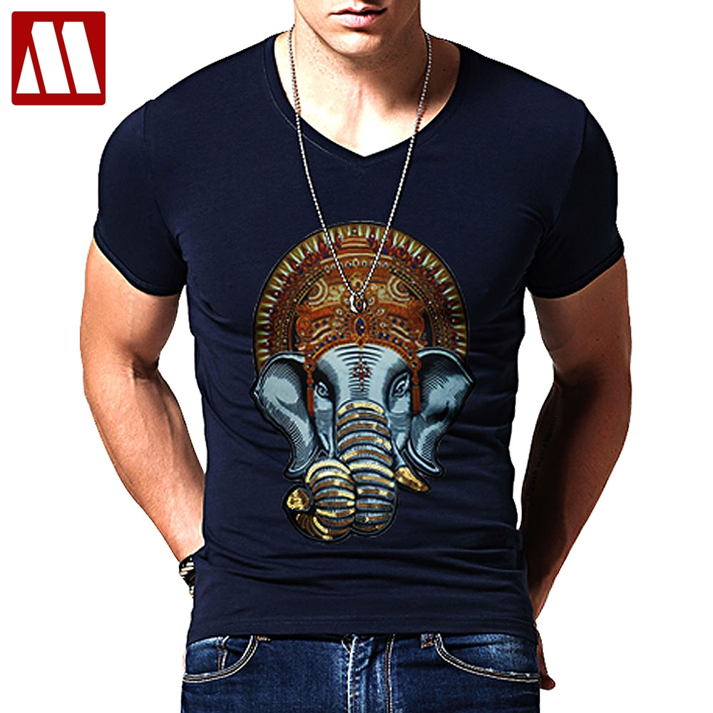 2018 Summer Ganesh T-Shirt elephant-headed Hindu god Ganesha amazing 3d unisex print funny tee women men summer t shirt tops 5XL