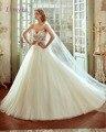 Loverxu Designer Bohemian Estilo Do Pescoço Da Colher A Linha Princesa Vestido de Noiva 2016 Apliques de Contas Prarls Vestido De Noiva Plus Size