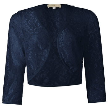 Women lace Cape Coats Three Quarter Sleeve Short Open Lace Bolero Shrug Female Jackets Ladies Cropped Basic Jacket