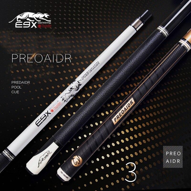 2018 New Arrival E9X 1 2 Pool Cue Sticks 9 5mm 11 5mm 13mm Tip Billiard