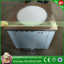 110V Voltage 220V single pan fried ice cream machine with imported compressor diameter 450mm