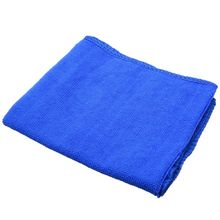10Pcs/Lot 30*30cm Car Soft Microfiber Absorbent Wash Cloth Cleaning Polish Towel for Home Kitchen Bathroom Towels Blue