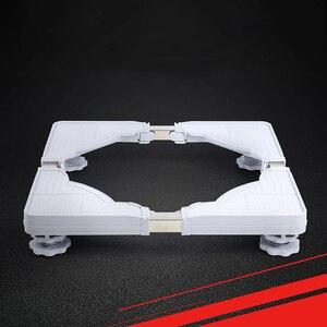 Image 2 - Suporte móvel para máquina de lavar, suporte ajustável para base móvel para geladeira universal
