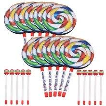 Yibuy 7 9 Lollipop Shape Hand font b Drum b font Percussion font b Musical b