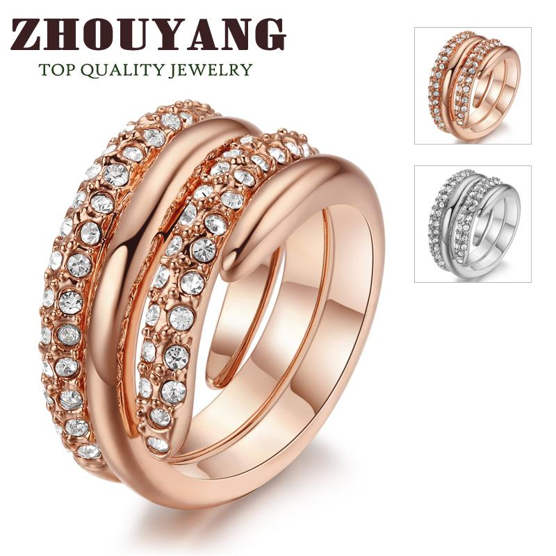 top quality r069 hot sell elegant rose gold plated wedding ring austrian crystals full sizes wholesale - Where To Sell Wedding Ring