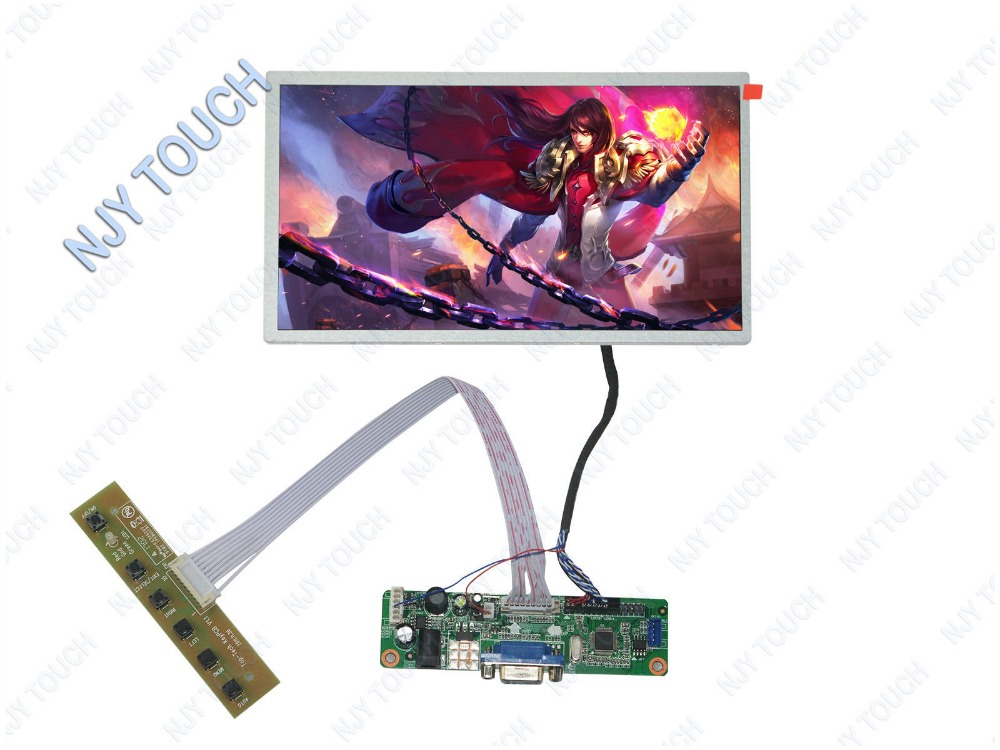 VGA LCD Controller Board DIY Kit HSD100IFW1-A00 1024x600 30Pin LED Screen Panel