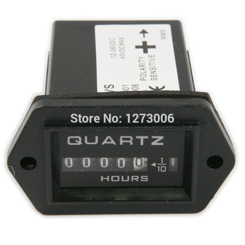 1PC New Black Generator Sealed Hour Meter Counter Tractor Truck Rectangle Hourmeter DC 12V-36V For Truck Boat Tractor Car Engine