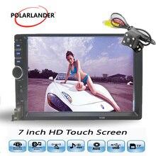 Автомобиль радио-Кассетный проигрыватель Bluetooth 2 Din Авто ленты ЖК дисплей сенсорный экран Дополнительно 170 градусов CCD Зеркало Ссылка 7 дюймов