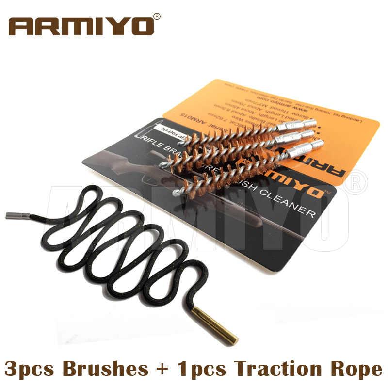 Armiyo. 30Cal мм чистящее средство для винтовки мм охотничий 7,62 пистолет баррель щетка цельный набор для чистки отверстий подходит AK винт Резьба 8-32