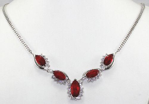 Mulheres palavra Amor Moda feminina Jóias Presente HOT! moda jóias Nobby red inlay Colar de Cristal 18kgp