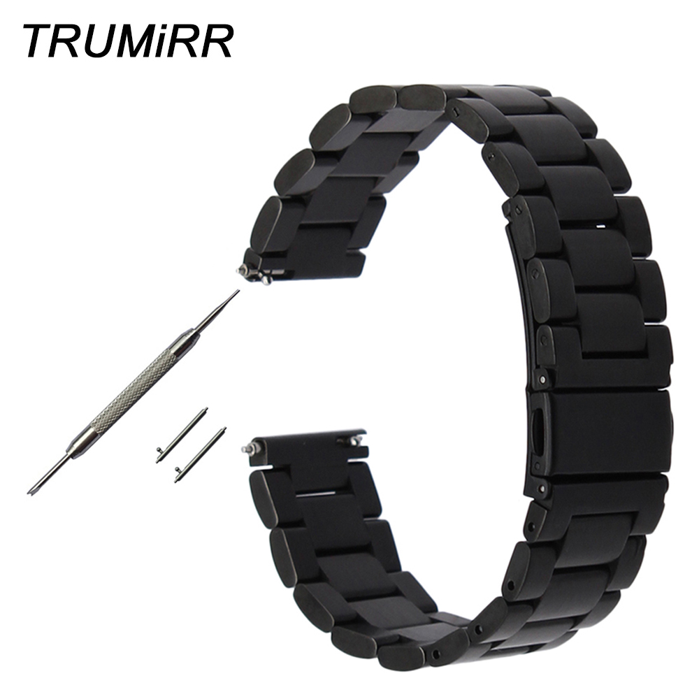 18mm 20mm 22mm 23mm 24mm Quick Release Watch Band for Tissot T035 <font><b>PRC</b></font> <font><b>200</b></font> T055 T097 Stainless Steel Strap Watchband Black Silver image