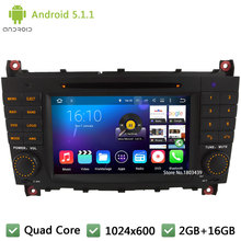 Quad Core 16GB Android 5.1.1 7″ Car DVD Player Radio Stereo Screen PC For Mercedes-Benz C-Class W203 C230 CLK200 CLK350 CLK W209