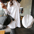 Hot sale Pregnancy Back Zipper Long Maternity Shirt Casual Blouses plus size  Slim casual White Loose Shirts  Pregnancy Clothes