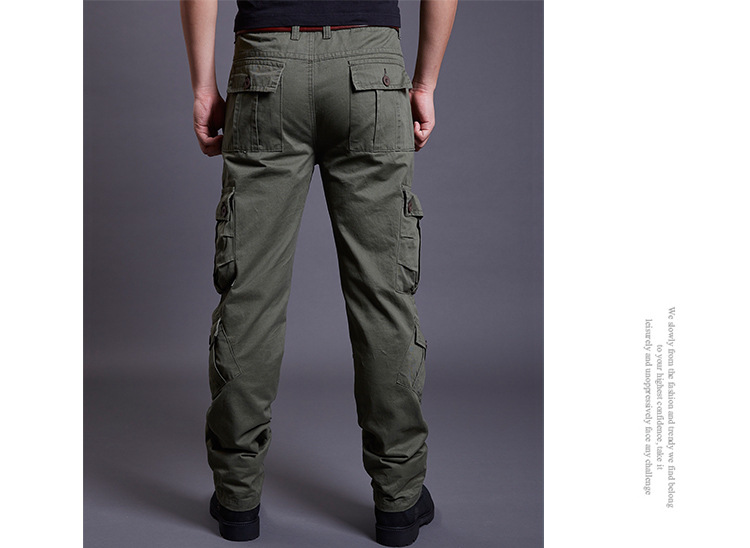 Icpans Winter Tactical Black Cargo Pants Men Loose Fit Military Style Side Pockets Army Black Denim Casual Men Pants Size 40 42 5