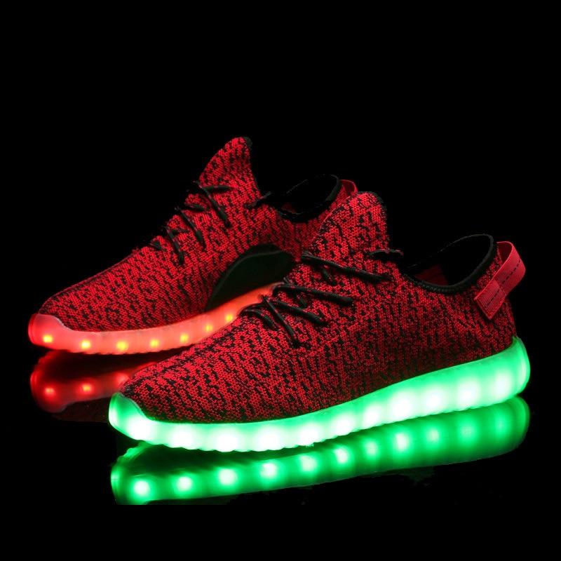 a6c12b82e8838 2016 7 Colors Luminous Shoes Unisex Led Glow Shoe Men   Women Fashion USB  Rechargeable Light yeezy Shoes for Adults Led Shoes-in Men s Casual Shoes  from ...