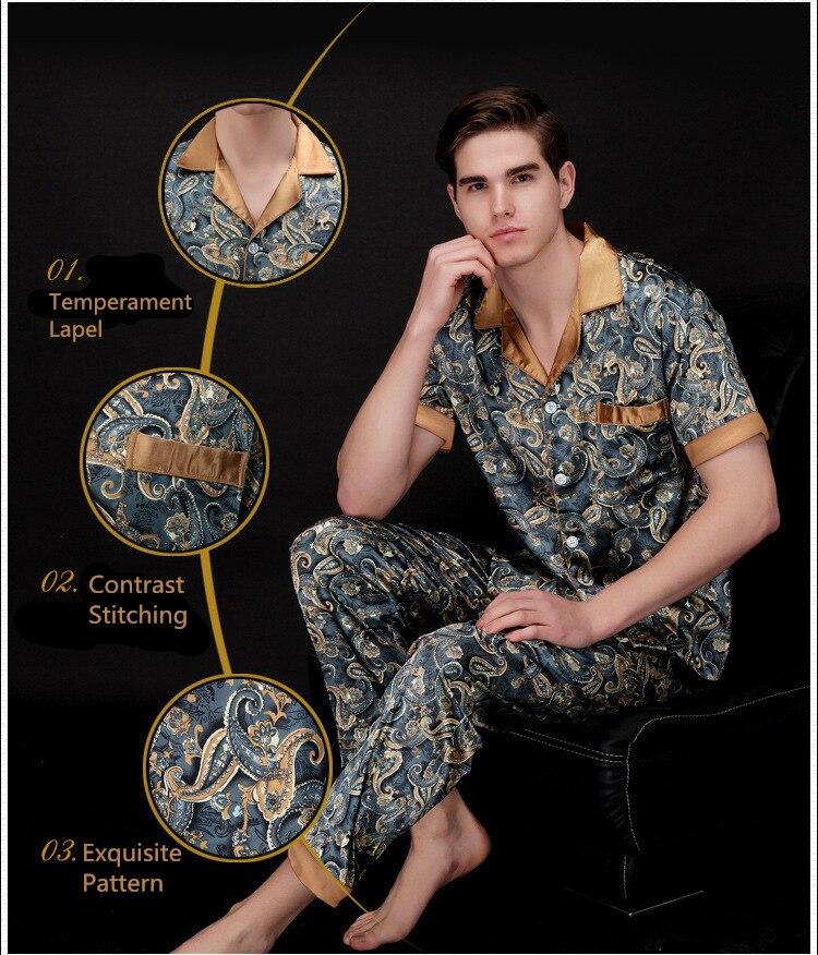 cc64732715 2019 ChenKe Luxury Pajamas Sets Men Dragon Robe Pattern Sleepwear ...