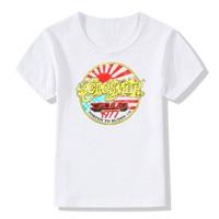 2017 Children Print Aerosmith T Shirt O Neck Short Sleeve Summer Kids Girls Boys Rock Band