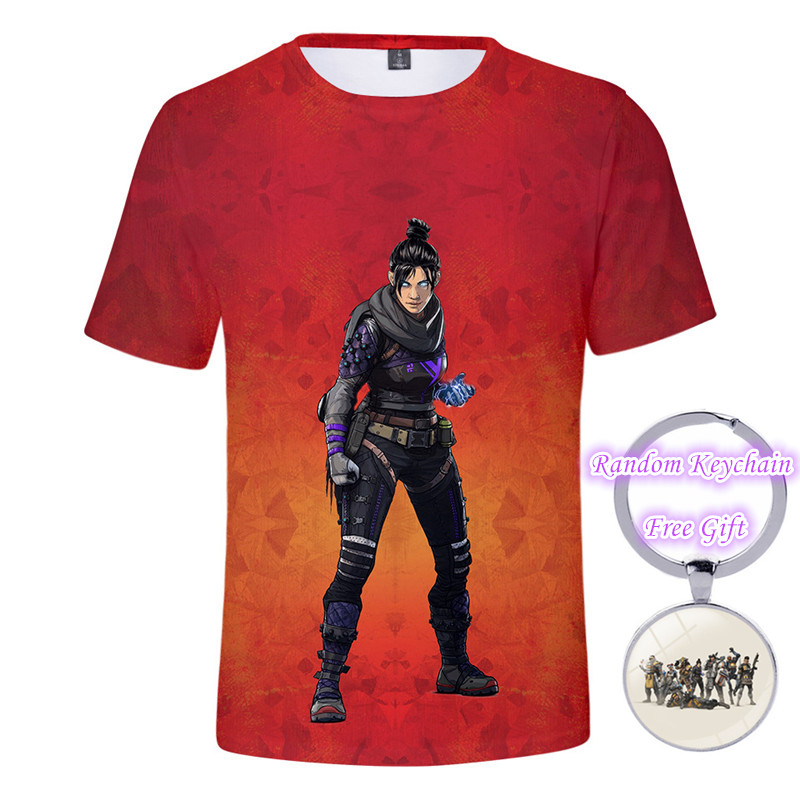 ZSQH Apex  Legends costume T-Shirts Men Print Tee Black 100% Cotton EU Size Short Sleeve Summer Tops Homme for kids girl women