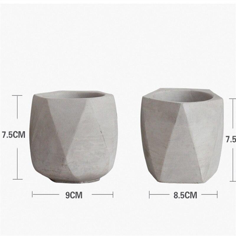 Domu Wykonane Rzemiosło Ceramika Dekoracyjna Gliny Formy Dla Cementu Sadzarka Betonowa Doniczka Formy Silikonowe