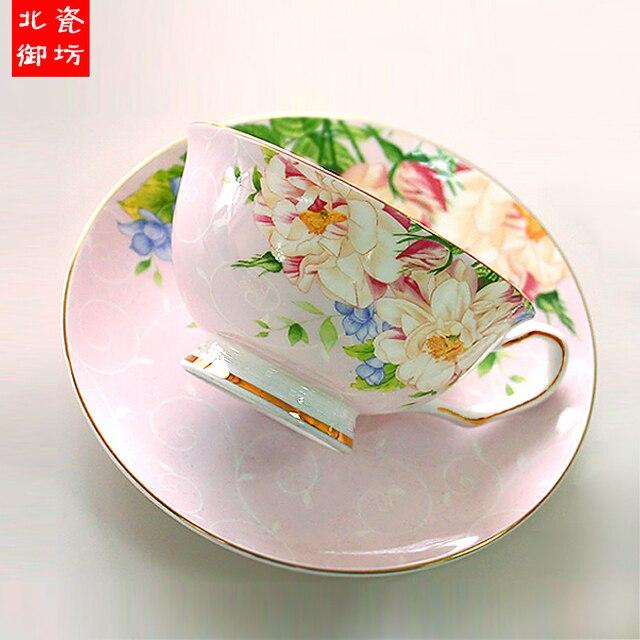 Vintage Tea Cups Part - 24: 220ML, Fine Bone China Vintage Tea Cup Set, Craft Tea Cup With Saucer,