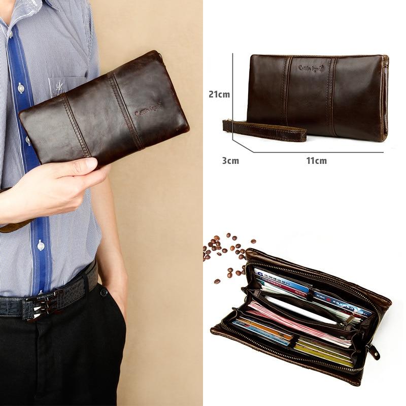 Cobbler Legend Long Wallets Zipper Coin Purse for Men Men's Wallets