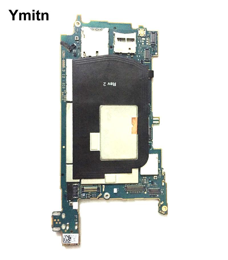 Ymitn débloqué Logement Mobile Électronique panneau carte mère Carte Mère Circuits Flex Câble Avec OS Pour Sony Xperia ZL L35h