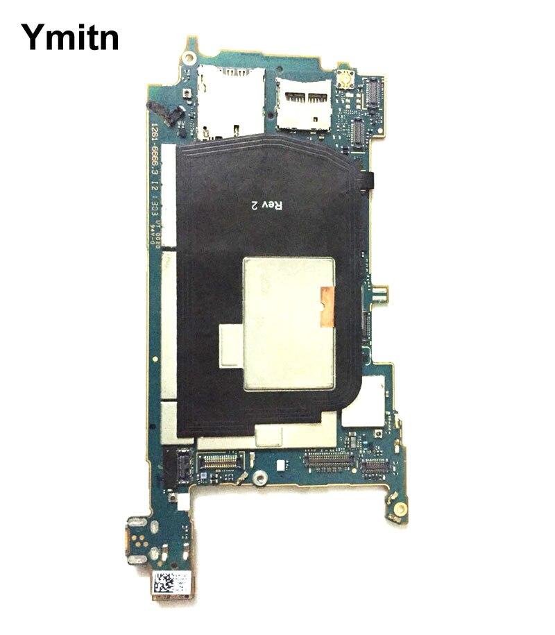 Ymitn débloqué logement Mobile panneau électronique carte mère Circuits carte mère câble flexible avec OS pour Sony Xperia ZL L35h
