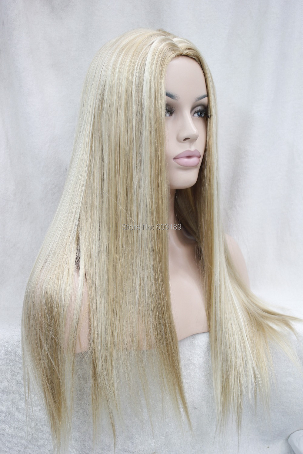 Free Shipping No Bangs Long blonde mix straight Wig on Aliexpress.com  e256c7bdf