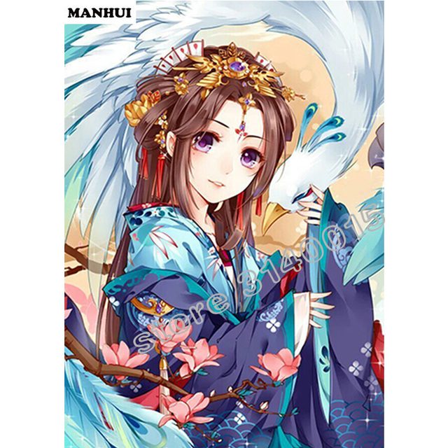 New Phoenix Girl Daimond Painting 5d Mosaic Cartoon Diamond