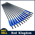 """12pcs/lot  Hunting Archery Carbon Arrow 20"""" Crossbow Bolts Arrow With  4"""" vanes Feather and Replaced Arrowhead/Tip Free Shipping"""