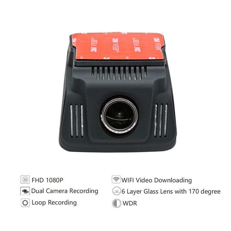 Original G-sensor Dash Cam Dual Camera Car DVR Video Resolution 1920 * 1080P 2.4 inches 170 Car Dash Camera Driving Recorder dash cam
