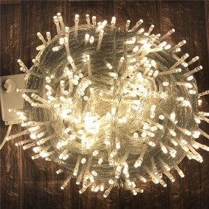 Image 5 - חיצוני חג המולד תאורת 100M 50M LED מחרוזת אורות רחוב גרלנד קישוט לבית בית גן רחוב חג המולד חתונה המפלגה