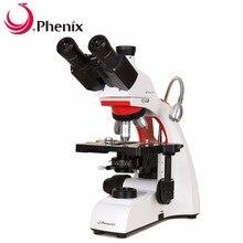 Феникс тринокулярный микроскоп 40X-1600X Профессиональный Биологический микроскоп светодиодный светильник для медицинского образования школьная лаборатория