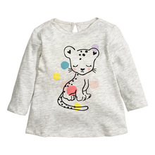 2017 Spring Fall 18M-6Y Cotton Sweatshirt for Baby Big Girls Blouse White Clothes Child Long Sleeve School Girl Shirt Kids Tops