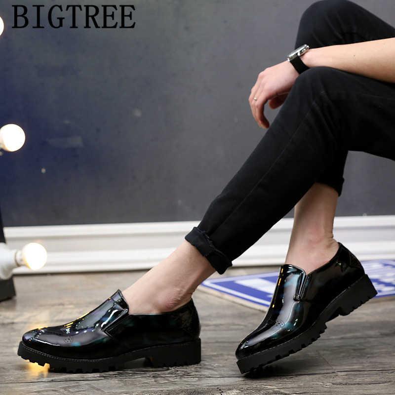 Zapatos de charol para hombre, zapatos de cuero calado para hombre, zapatos elegantes formales para hombre, zapatos de lujo de marca italiana para hombre, Bona