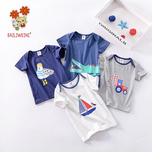 2019BAILIWEINI new cotton children over shoulder sleeve short-sleeved T-shirt fashion childrens shirt boys short-