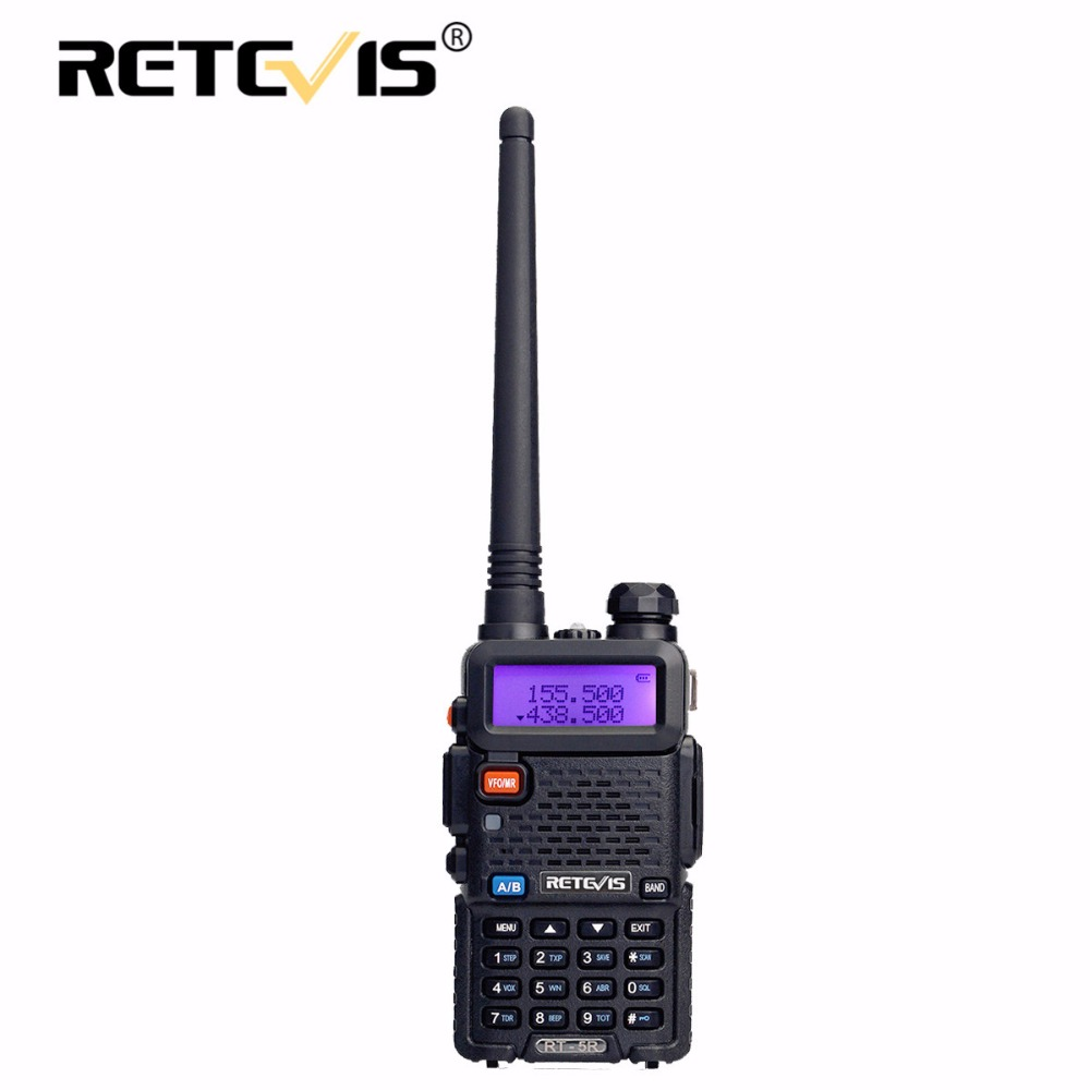 Retevis RT-5R Walkie Talkie 5 Watt VHF UHF Dual Band Hf Transceiver VOX FM Amateur Tragbare cb Ham Radio Station Walkie-talkie RT5R