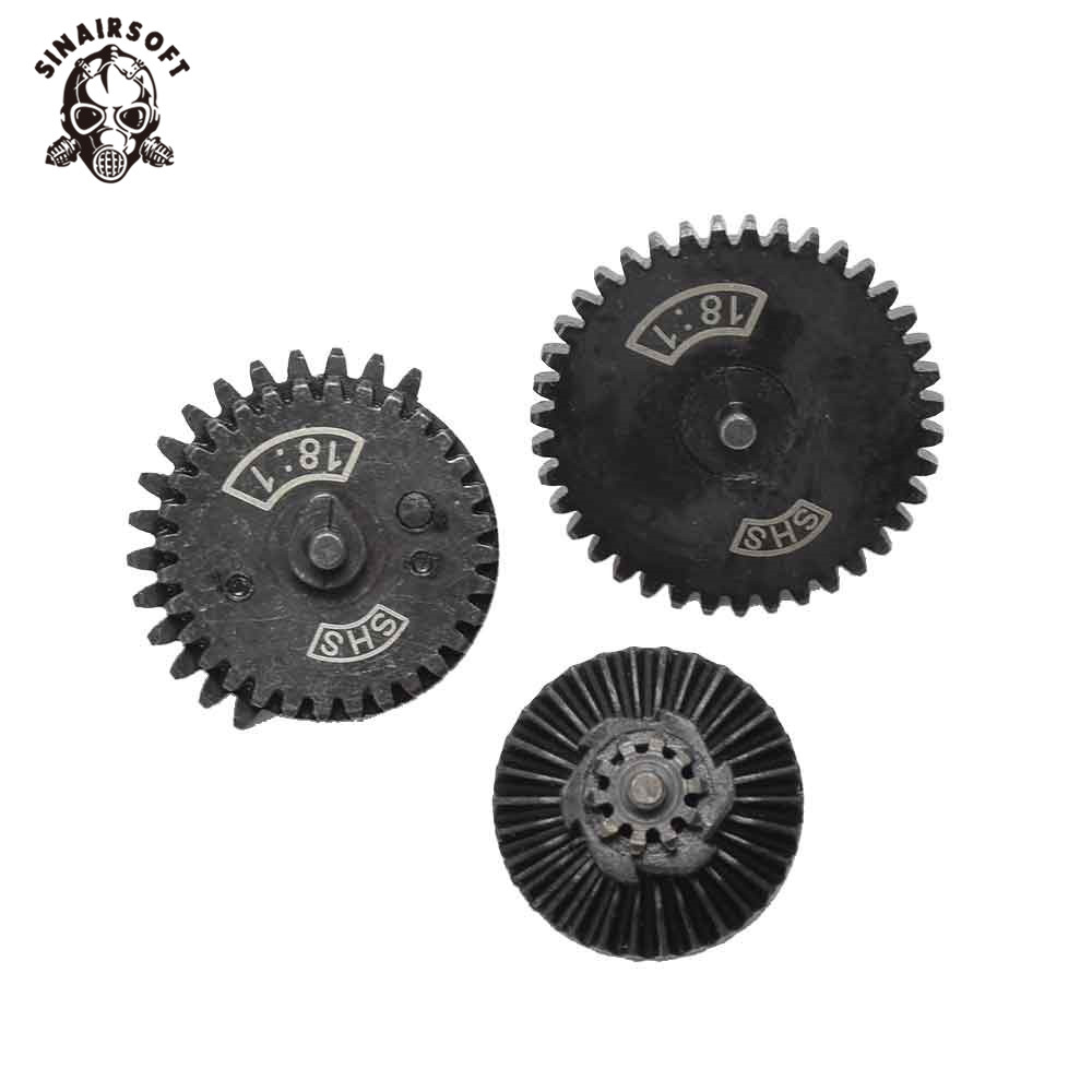 Hot SHS 18:1 New Design CNC Normal Speed Gear Set Fit Ver.2/ 3 Airsoft AEG Gearbox For Hunting Paintball Shooting Accessories