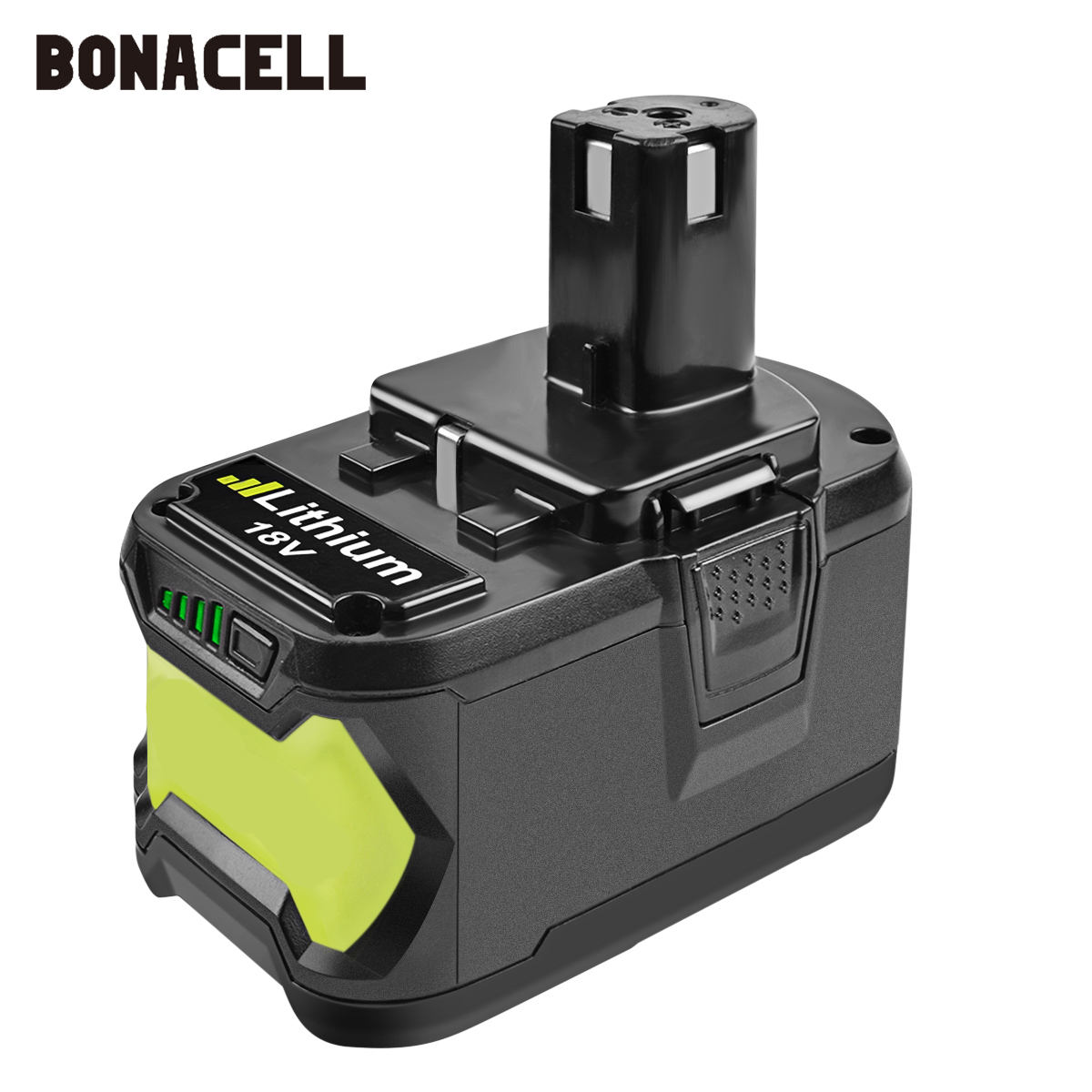 Bonacell 18V 9000mAh Li-Ion P108  Rechargeable Battery For Ryobi Battery RB18L40 P2000 P310 For BIW180 L30  Lithium Battery