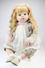 70cm Silicone Vinyl Reborn Baby Doll for sale lifelike princess girl  Big Size Baby Reborn Doll Toys Clothing Model Brinquedos