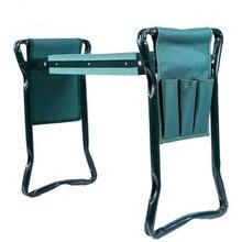 1 세트 정원 좌석 접는 스테인레스 스틸 정원 의자 도구 가방 eva 무릎 패드