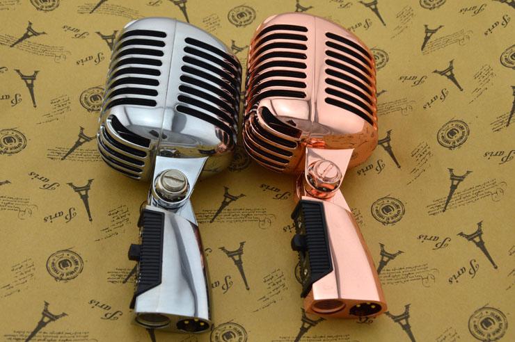Micro classique professionnel filaire Vintage bobine mobile dynamique de qualité supérieure Mike Deluxe métal Vocal Style ancien Ktv Mic Z6 mike-in Microphones from Electronique    1