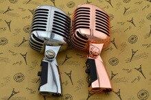 Профессиональный проводной Винтаж классический микрофон Одежда высшего качества Динамический подвижной катушкой Майк Делюкс металла вокальный старый Стиль КТВ Mic Z6 Майк